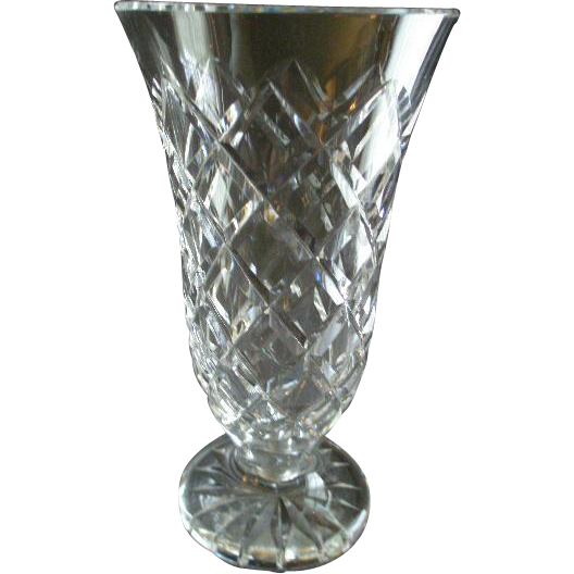 Waterford Crystal Kinsale Pattern Vase Brys Antiques Ruby Lane
