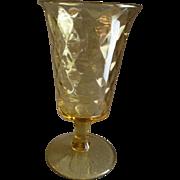 EAPG - Diamond Quilted Amber Celery Vase