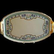 Thomas Bavaria Hand Painted Art Deco Serving/Dresser Tray w/Floral Motif