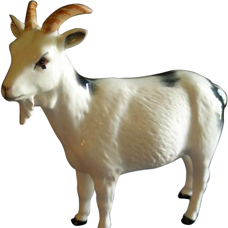 "Royal Doulton ""Nigerian Pot-Bellied Pygmy Goat"" Figurine - DA223 - By A. Hughes-Lubeck"