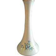 "La Seynie Limoges Hand Painted ""Forget-Me-Not"" Pattern Tall Candle Stick"