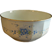 "Hutschenreuther Porcelain Hand Painted ""Forget-Me-Not"" Pattern Large Round Serving Bowl"