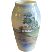 "Royal Copenhagen ""Country Cottage Scenic"" Pattern Vase"