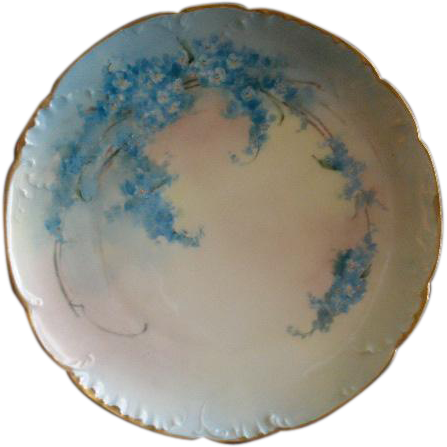 Haviland Limoges Hand Painted FMN Pattern Cabinet Plate - Artist Signed
