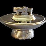 "Vintage Ronson 'Tempo"" Futuristic Nickel Chrome Table Lighter"