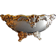 "Vintage Reed & Barton ""King Francis"" Pattern Silverplated Oval Footed Console Bowl"