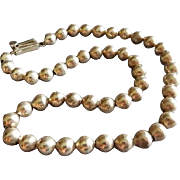 Mexican Modernist Sterling Silver Bead Necklace