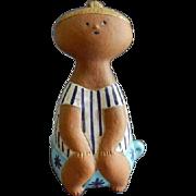 "Gustavsberg - Lisa Larson - "" Lotta on a Pot"" Art Pottery Figurine"