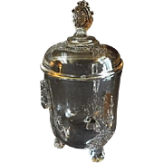 EAPG - Riverside Glass Works 'Grasshopper' Pattern Covered Sugar Bowl