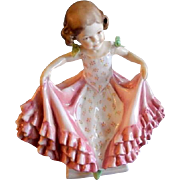 "Royal Worcester Bone China ""The Curtsey"" Figurine #3360 Modelled by F. G. Doughty"