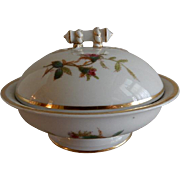 "1880's Charles Haviland & Co. Limoges ""Moss Rose"" Pattern Covered Butter Dish"