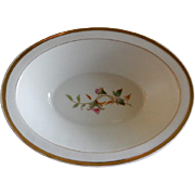 "1880's Charles Haviland & Co. Limoges ""Moss Rose"" Pattern Oval Open Serving Bowl"