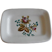 "Alfred Meakin Ironstone China ""Moss Rose"" Pattern Pin Tray"