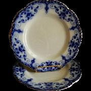 Johnson Bros. Flow Blue 'Jewel' Pattern Dinner Plates - Set of 2