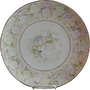 Royal Bayreuth Charger Plate w/Rose Blossom Motif