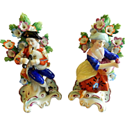 Pair of 19th Century Edme Samson Brocade Figurines after Chelsea
