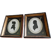 Vintage Metropolitan Museum of Art Copies of (2) Nineteenth Century Silhouettes