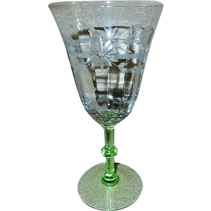 Weston Glass Company - Set of 5 Goblets - Pattern 905-2