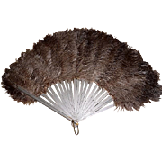 Antique Ostrich Feathers & Celluloid Fan