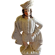 "English Staffordshire ""William Tell"" Figure"