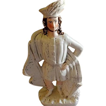 "English Staffordshire ""William Tell"" Figure"