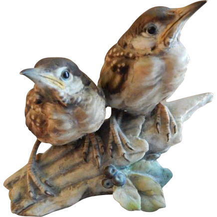 "Tay Porcelain ""Fledgling Blackbirds"" Figurine"