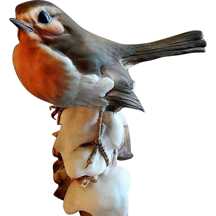 "Tay Porcelain ""House Finch on Snow"" Figurine"