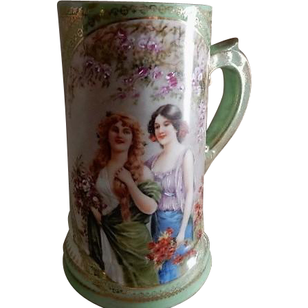 "Vienna Austria ""Portrait"" Tankard Mug w/Two Gorgeous Ladies"
