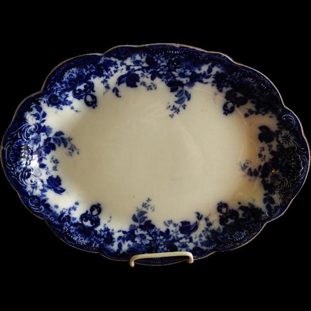 """Alfred Meakin Semi-Porcelain Flow Blue """"Richmond"""" Pattern Platter"""