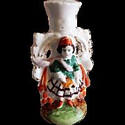 English Staffordshire Figural Single Candlestick - Circa 1870