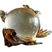 "Corocraft Sterling Silver Pegasus ""Jelly Belly Fish"" Brooch"