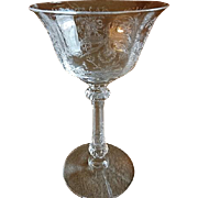"Heisey Glass ""Orchid"" Pattern Cocktail/Liquor - Stem #5025, Etch #507 - Set of 6"