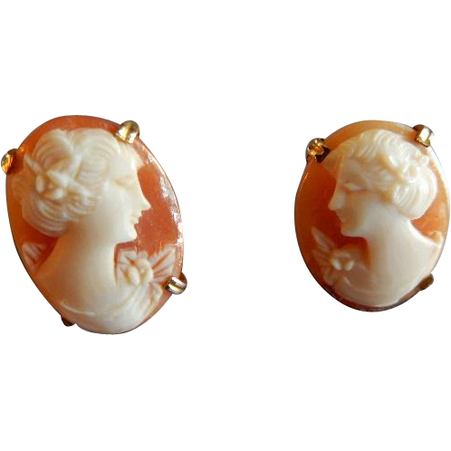 AMCO Cameo Pierced-Style Earrings