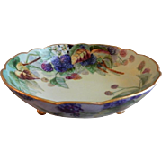 Klingenberg & Dwenger Hand Painted Raspberry Motif Footed Bowl