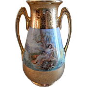 Osborne Studio Hand Painted Vase w/Scenic & AOG Decoration