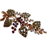Juliana (DeLizza & Elster) Gold-Tone & Colored Gemstone Leaf & Berry Design
