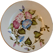 Charles F Haviland H.P. Floral Cabinet Plate, Artist Signed, 1 of 11
