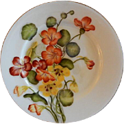 Charles F Haviland H.P. Floral Cabinet Plate, Artist Signed, 3 of 11