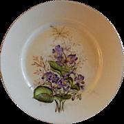 Charles F Haviland H.P. Floral Cabinet Plate, Artist Signed, 9 of 11