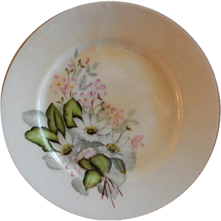 Charles F Haviland H.P. Floral Cabinet Plate, Artist Signed, 11 of 11