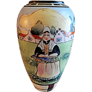 "Royal Nishiki Nippon Hand Painted ""Holland"" Scenic Vase"