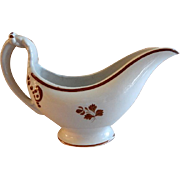 Thomas Furnival & Sons Tea Leaf Ironstone Gravy Boat