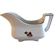 Anthony Shaw & Son Tea Leaf Ironstone Gray Boat
