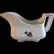 Anthony Shaw & Son Tea Leaf Ironstone Gray Boat