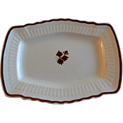 Mellor, Taylor & Co. Ironstone Tea Leaf Serving Platter