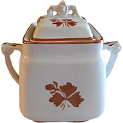 Mellor, Taylor & Co. Ironstone Tea Leaf Covered Sugar Bowl