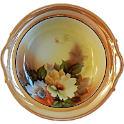 Noritake Japan Hand Painted Serving Bowl w/Floral Motif