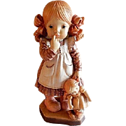 "Anri of Italy ""Bedtime"" Limited Carving 1732/4000 by Sarah Kay"
