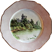 Charles Haviland Hand Painted Cabinet Plate w/European Castle Motif - 5 of 7