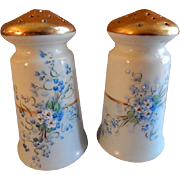 "Luken Studio Hand Painted Porcelain ""Forget-Me-Not"" Pattern Salt & Pepper Shakers"